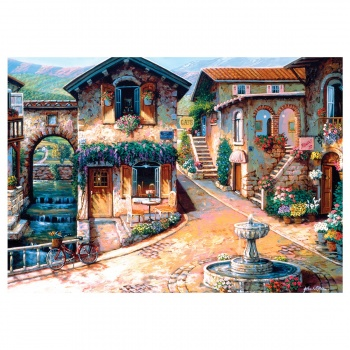KS The Fountain on the Square 500 Parça Puzzle